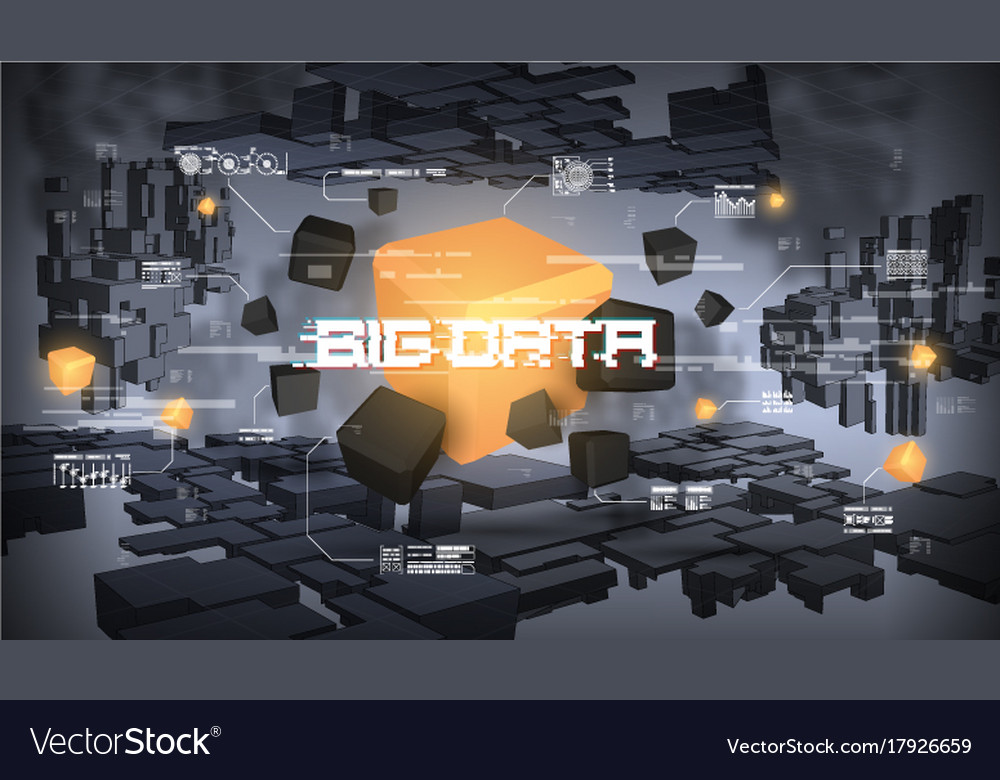 Big data abstract visualization futuristic