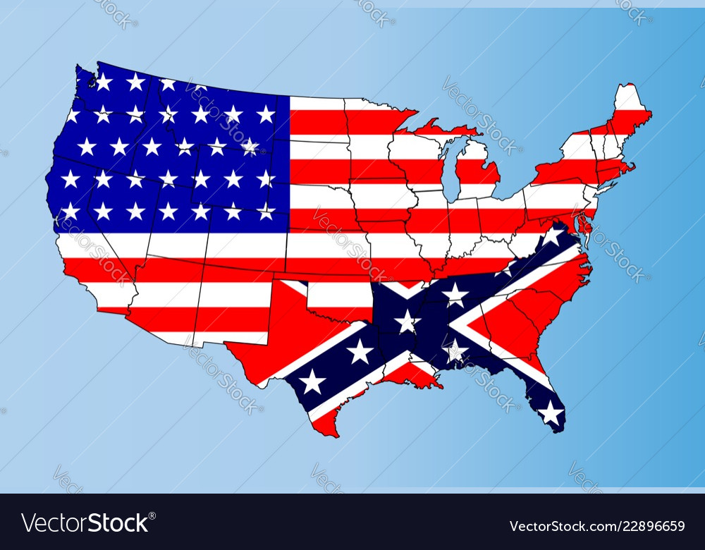 Confederate states Royalty Free Vector Image - VectorStock