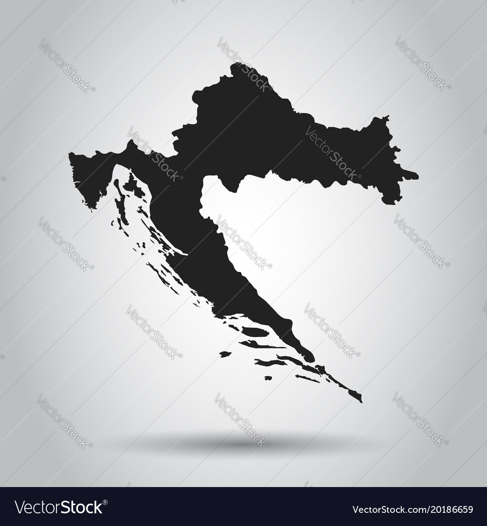 Croatia map black icon on white background vector image gumiabroncs Images