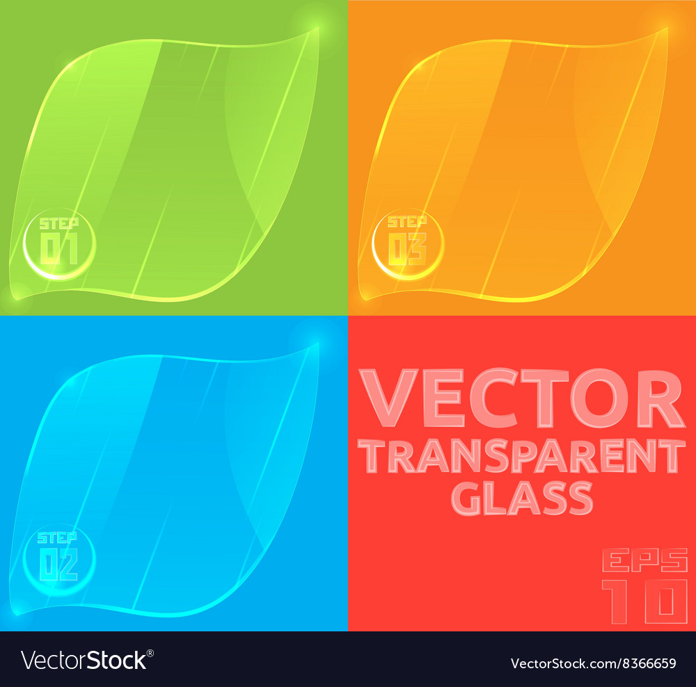 Empty glass template for the price tag banner or