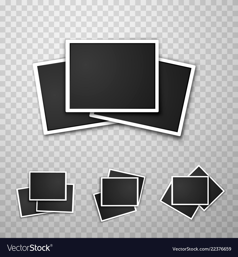 Foto frame collage set collection Royalty Free Vector Image