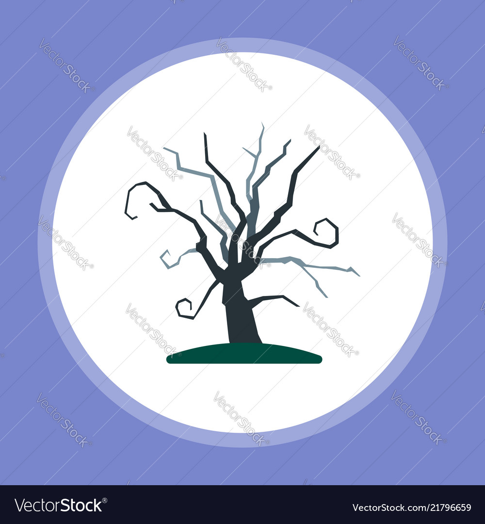 Halloween tree icon sign symbol