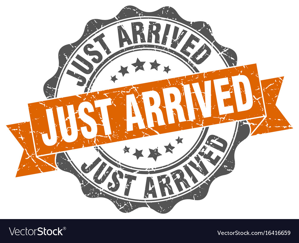 Just arrived stamp sign seal vector image