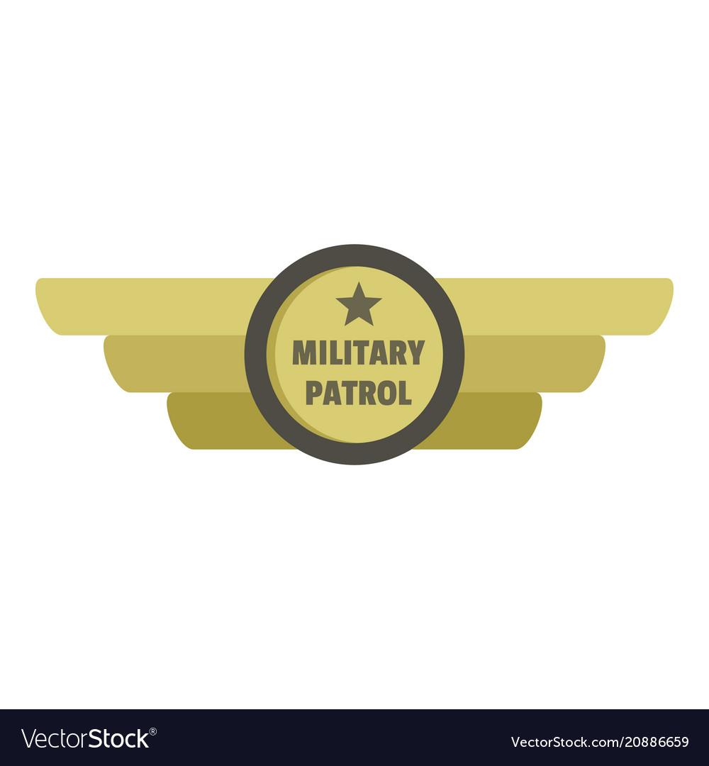 Military patrol icon logo flat style