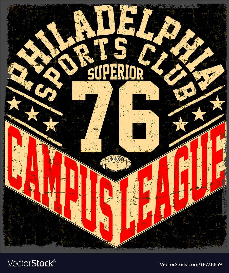 New york sport wear typography emblem american Vector Image 8b742032f