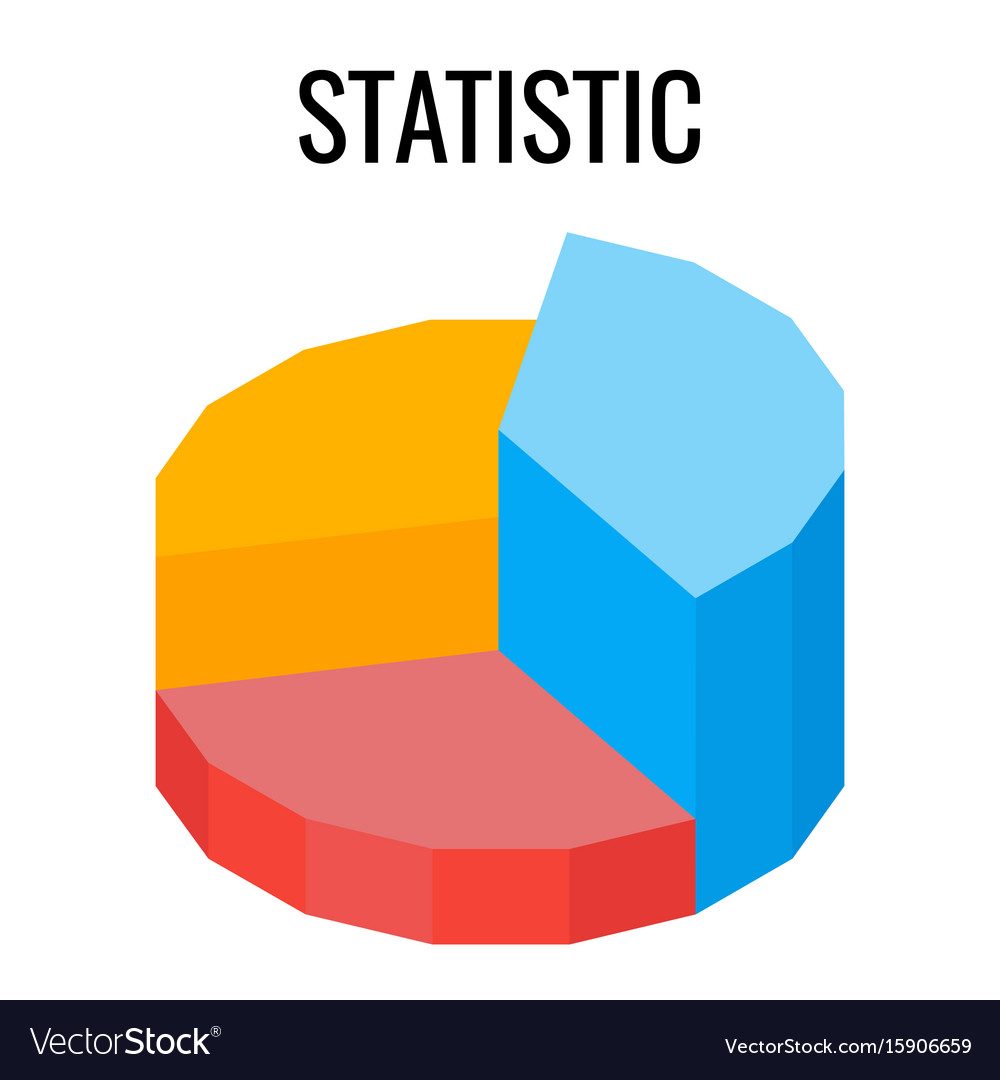 Statistic round chart infographic template