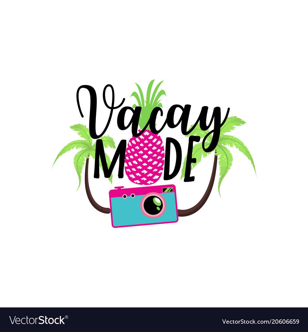 Vacay mode summer badge cute sticker