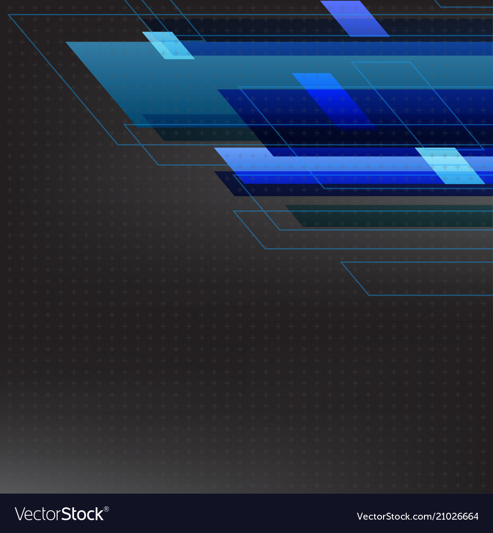Blue tone abstract square technology black