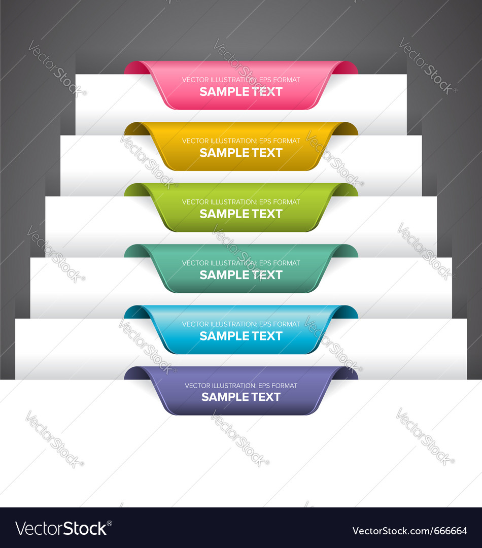 Bookmark labels vector image
