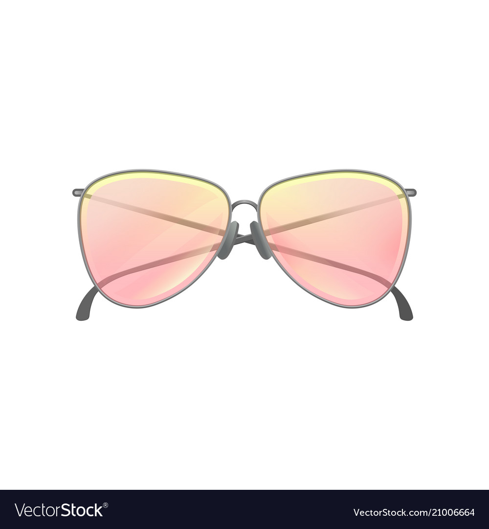 426aa1dfd35d0 Fashion women sunglasses with yellow-pink gradient vector image
