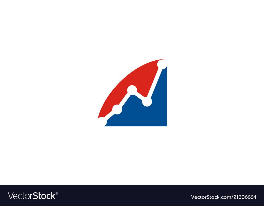 Flow chart business finance logo