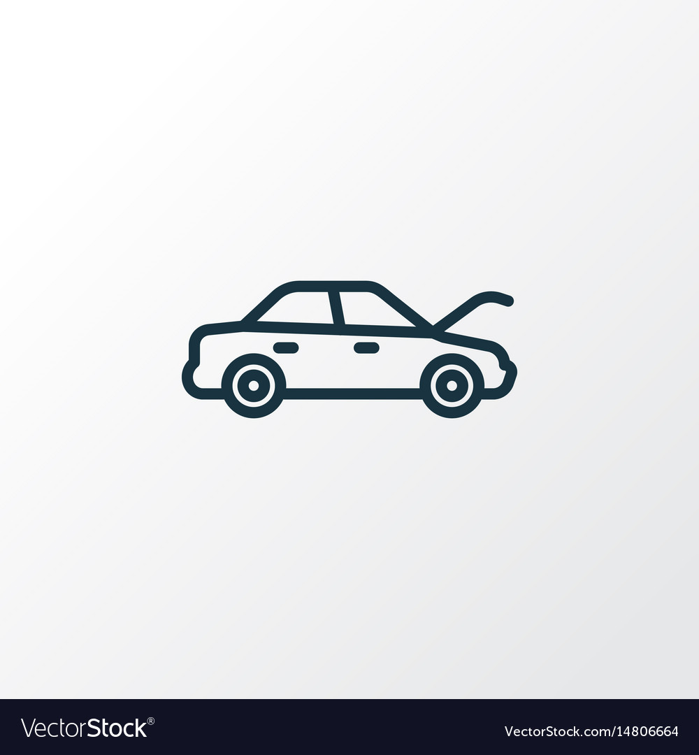 Hood outline symbol premium quality isolated vector image
