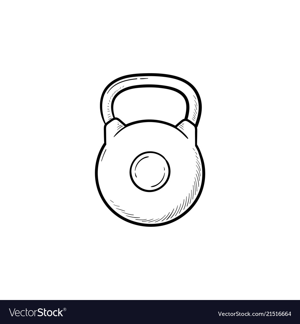 Kettlebell hand drawn outline doodle icon
