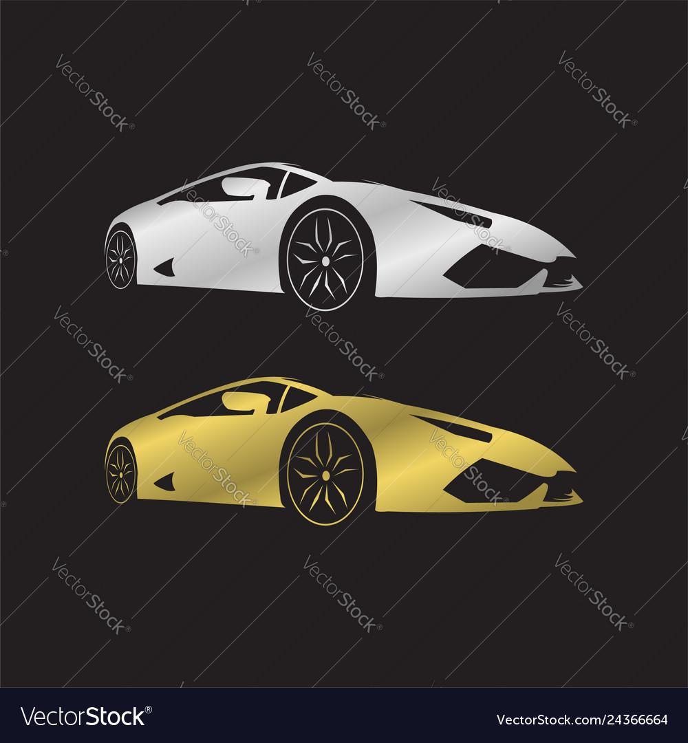 Lamborghini Silver And Gold Royalty Free Vector Image