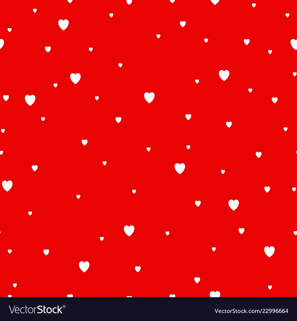 Red hearts background seamless pattern