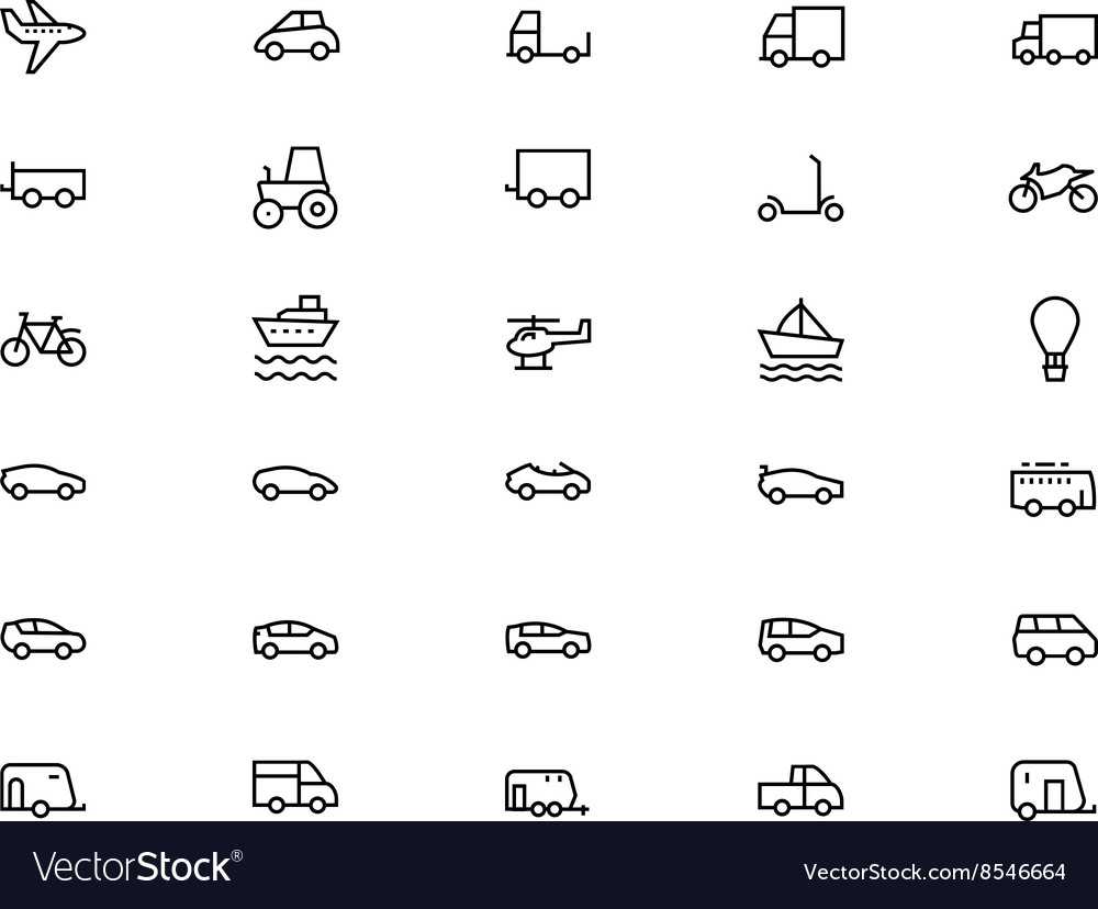 Vehicles Line Icons 1