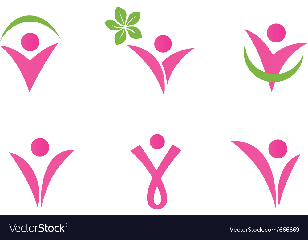 Abstract fit woman vector image