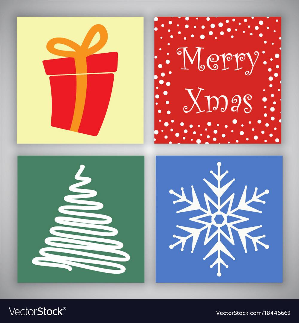 Christmas Card Designs Royalty Free Vector Image