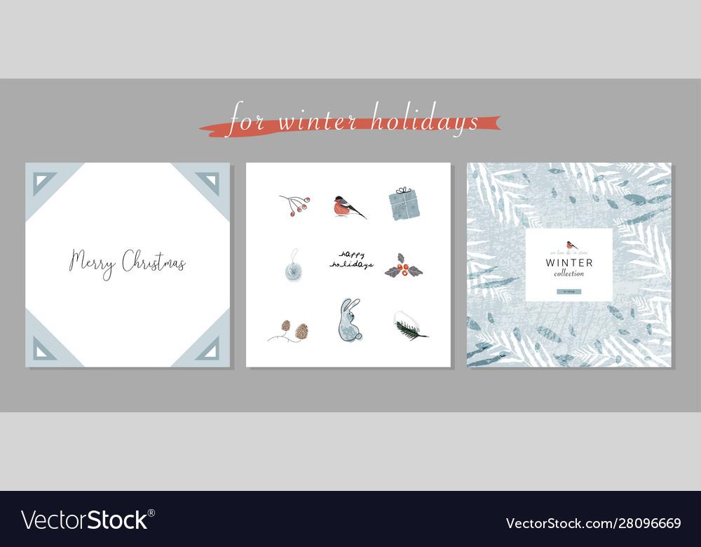Christmas cute cartoon clipart with