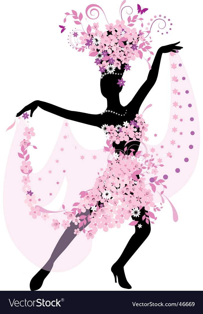 Dance silhouette vector image