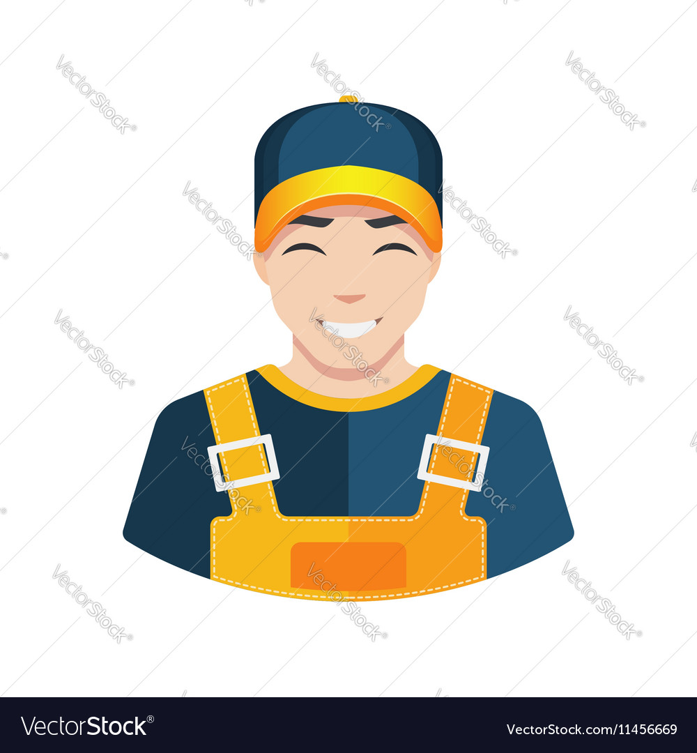 Flat Warehouse and delivery or building worker vector image