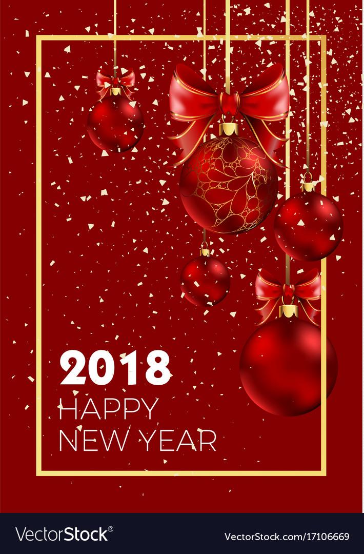 Happy new year 2018 christmas ball decoration