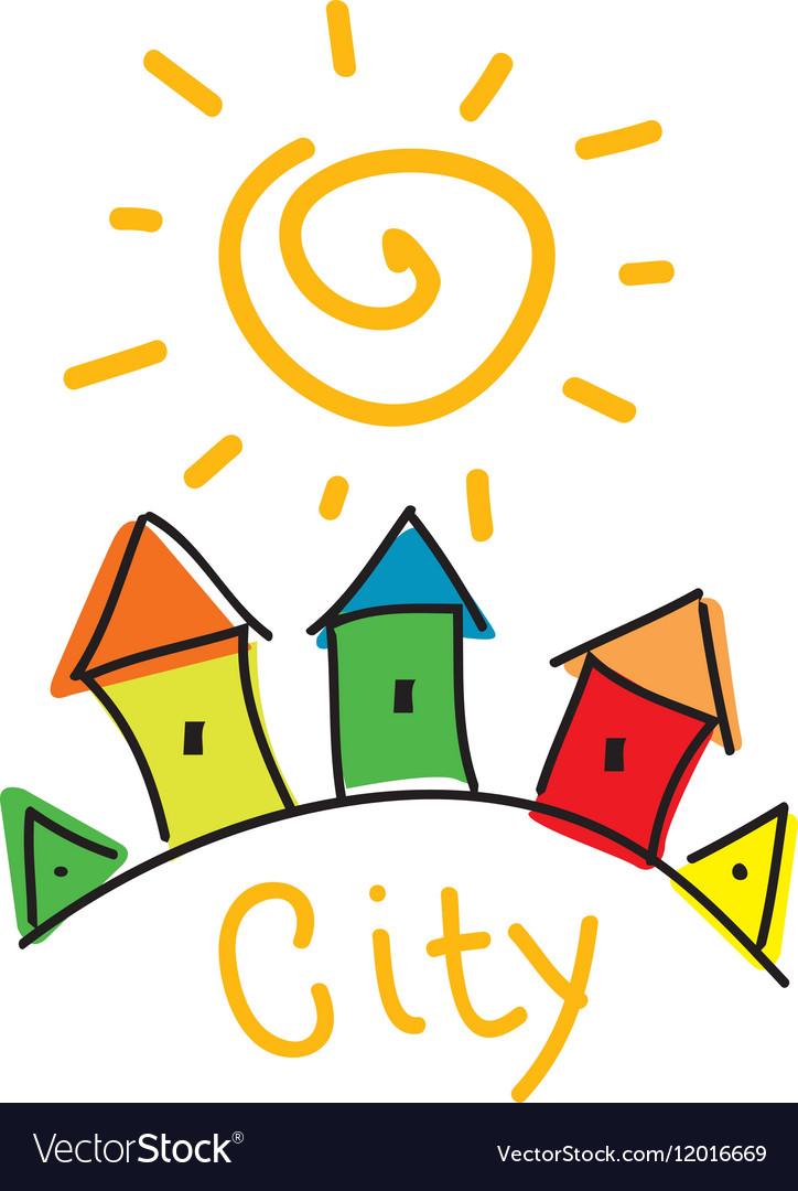 Logo city vector image