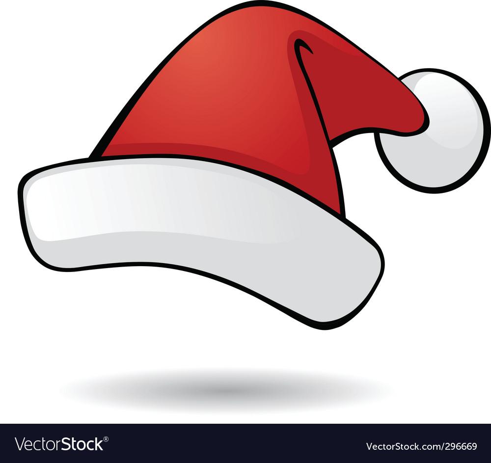 santa hat royalty free vector image vectorstock rh vectorstock com santa hat vector transparent santa hat vector transparent