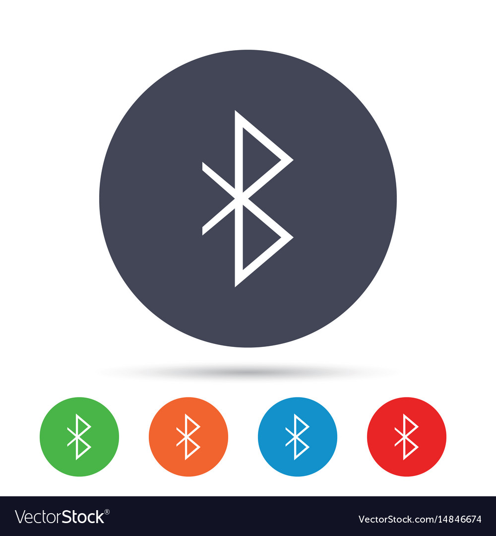 Bluetooth sign icon mobile network symbol