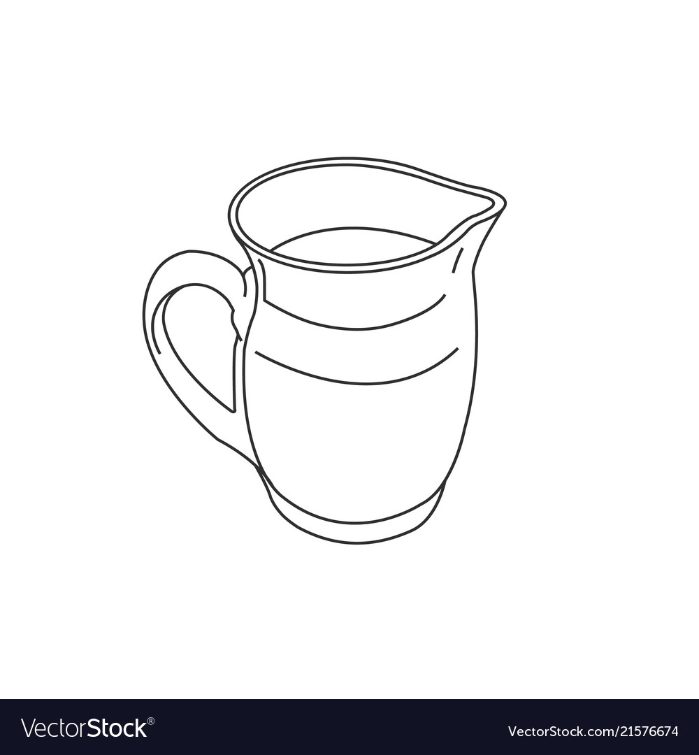 carafe jug pitcher silhouette graphic royalty free vector
