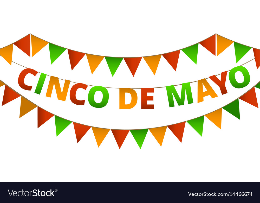 Cinco de mayo colorful bunting