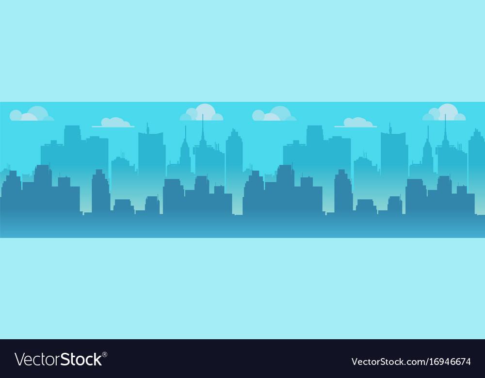 City skyline blue city