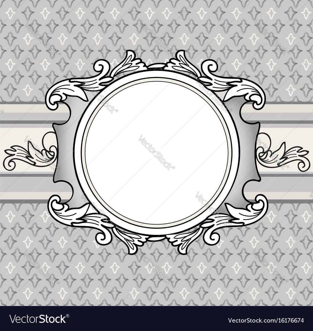 Floral background vintage frame cover flourish