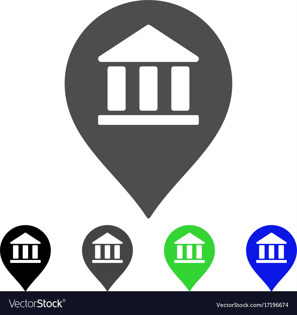 Library map marker flat icon