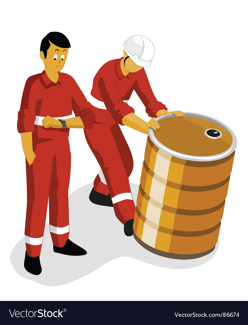 Oil worker vector image