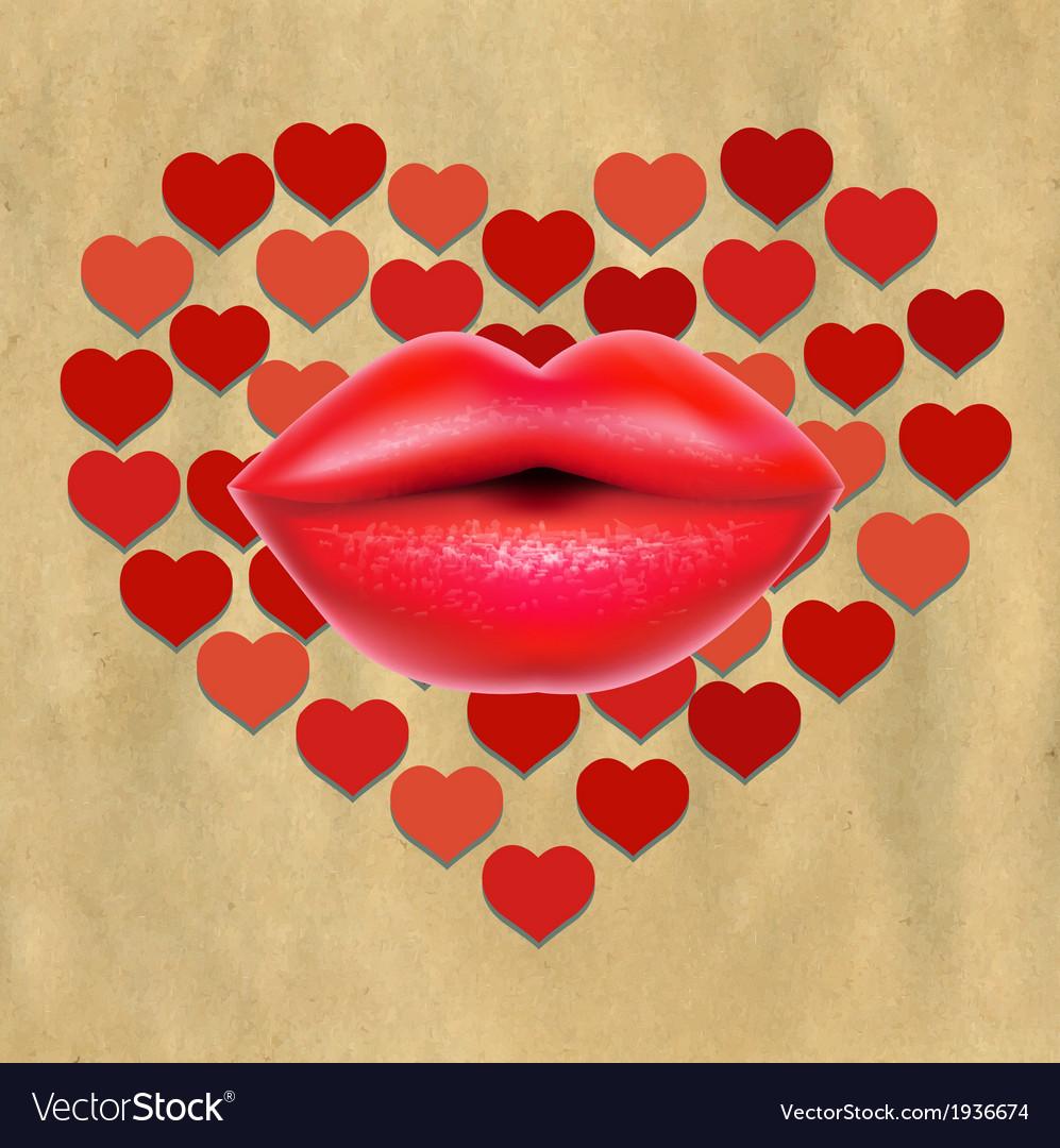 Рисунки кепки губы сердечки