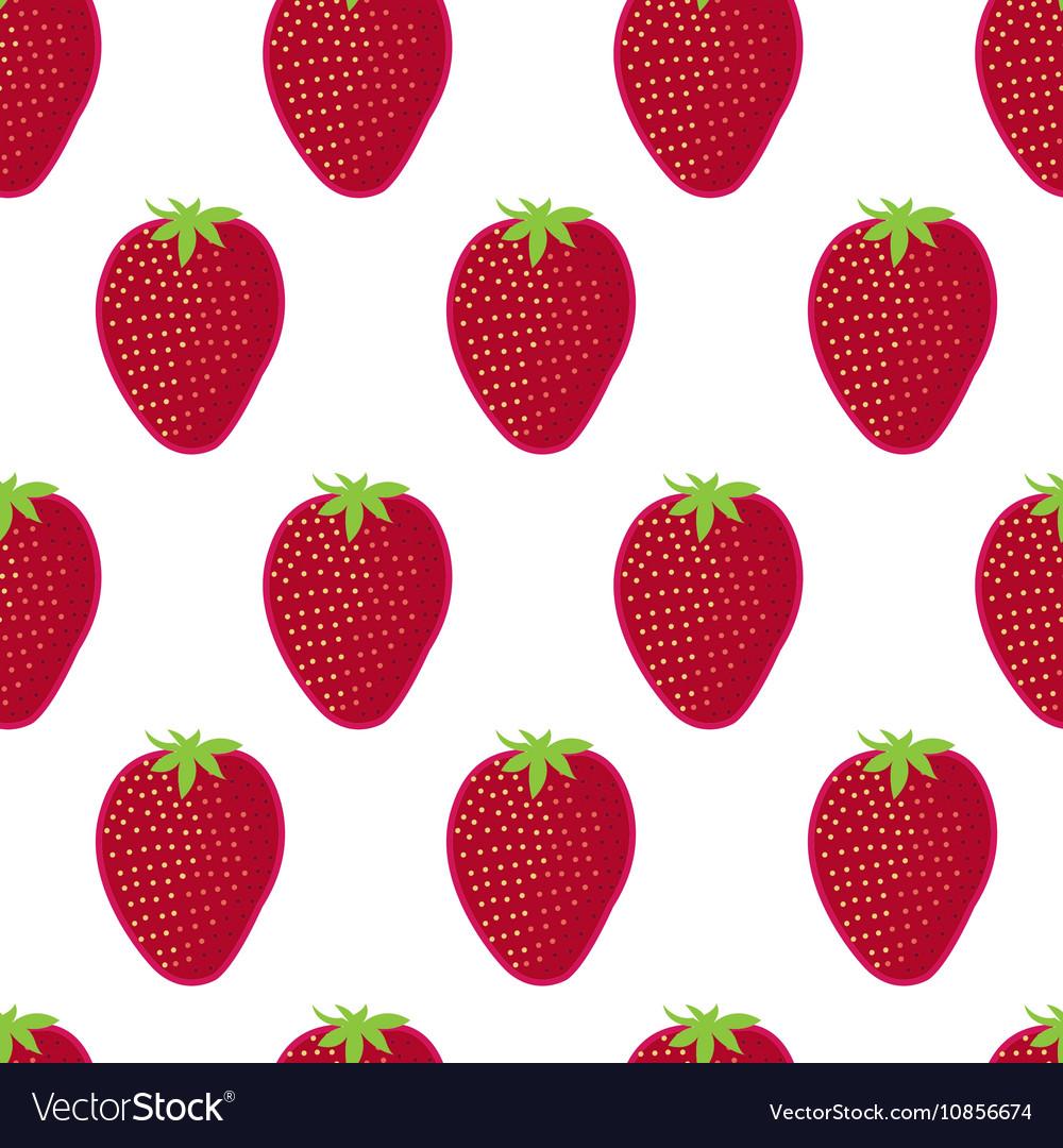 Strawberry seamless pattern Strawberry on white