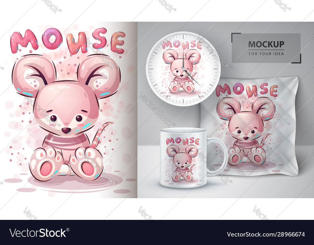 Teddy mouse poster and merchandising