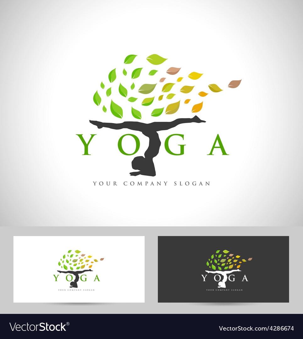 Yoga Logo Design Creative Royalty Free Vector Image