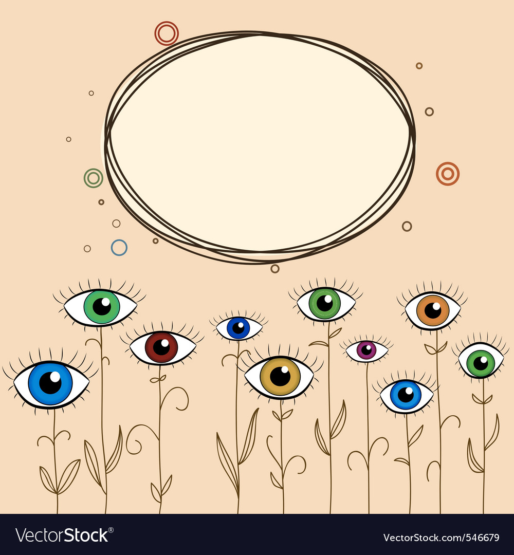 Abstract eyes background