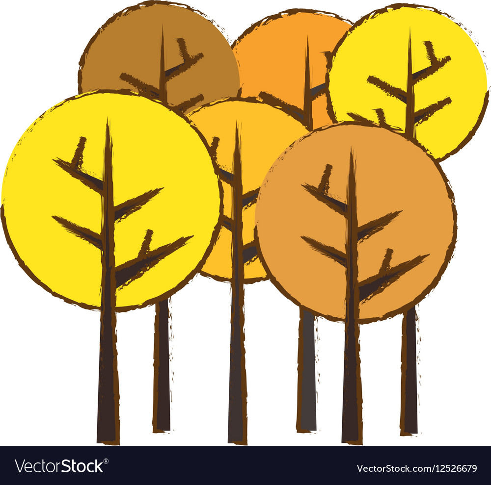 Abstract tree icon image