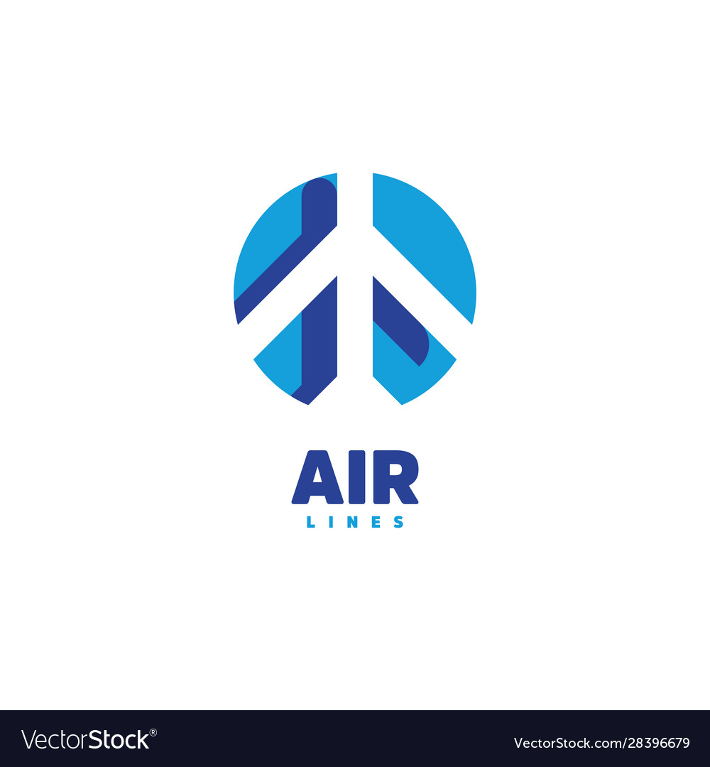 Airplane logo air logo airline label airport