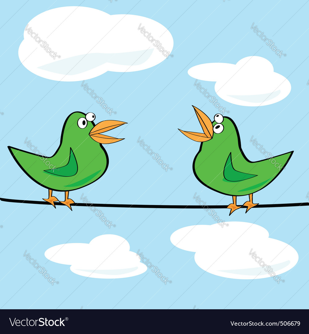 birds chirping royalty free vector image vectorstock