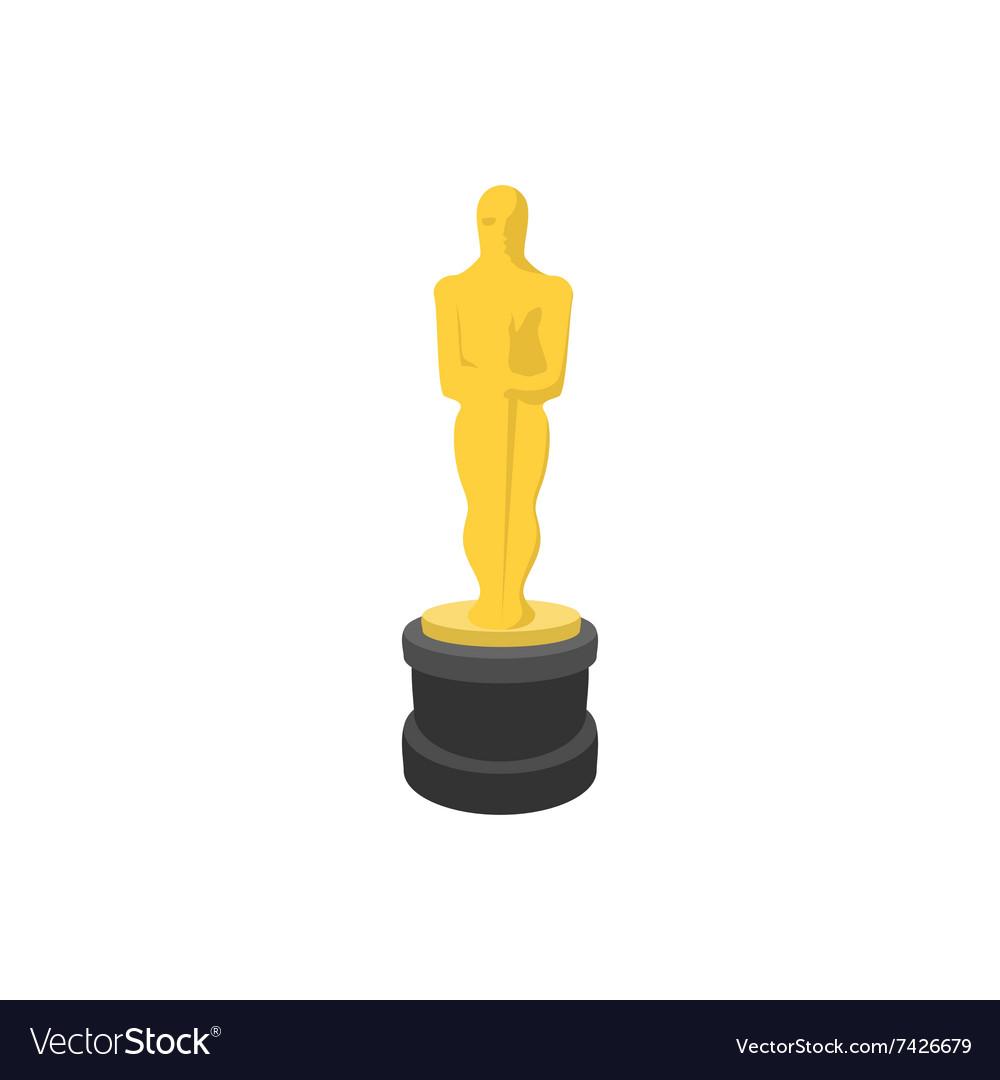 Golden statue cartoon icon vector image