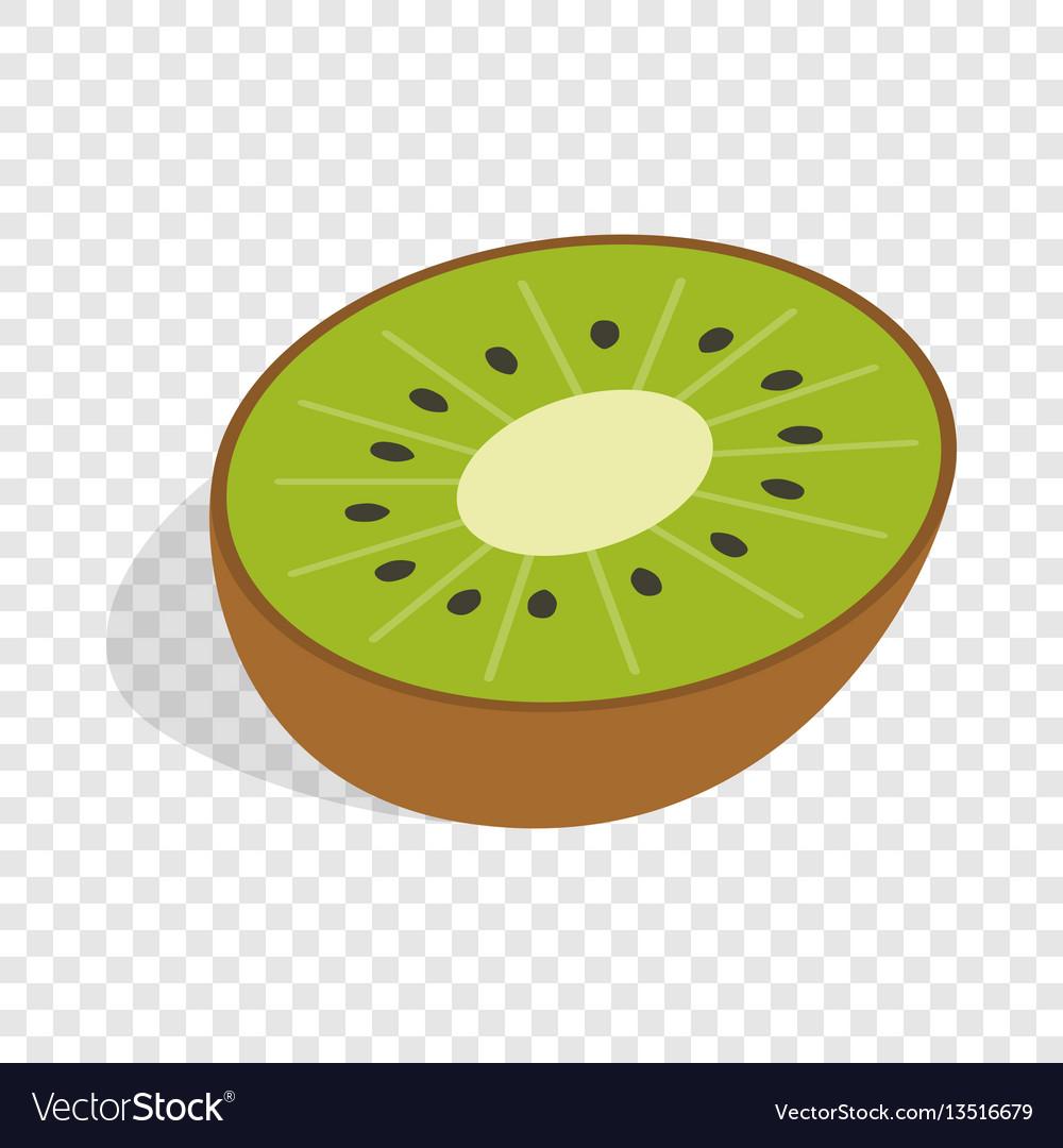 Half of kiwi fruit isometric icon