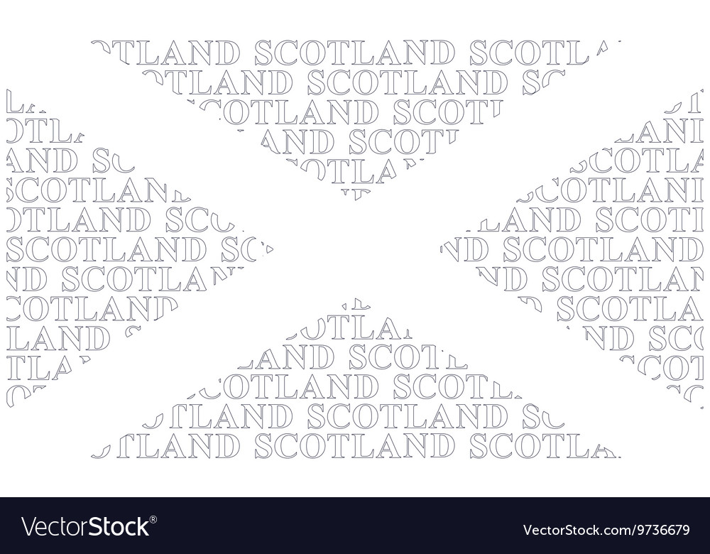 Scotland Text Flag