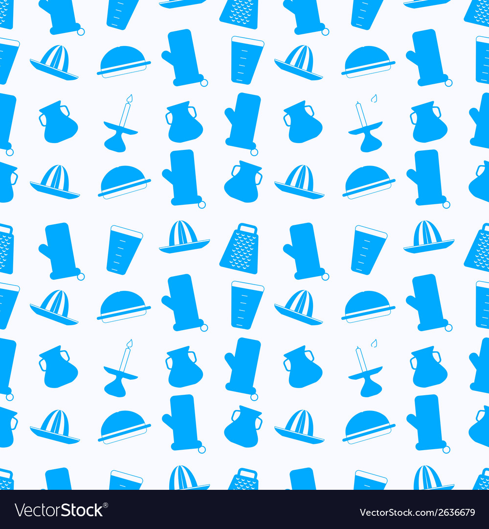 Seamless background for kitchenware vector image