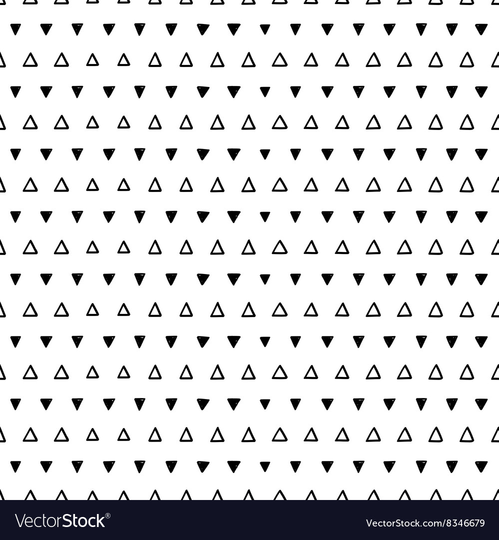 Seamless scribble triangle pattern