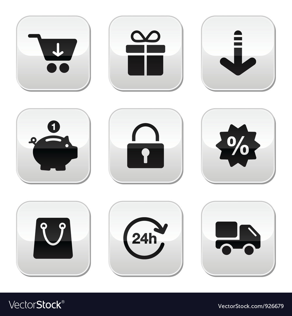 Shopping buttons for website online store