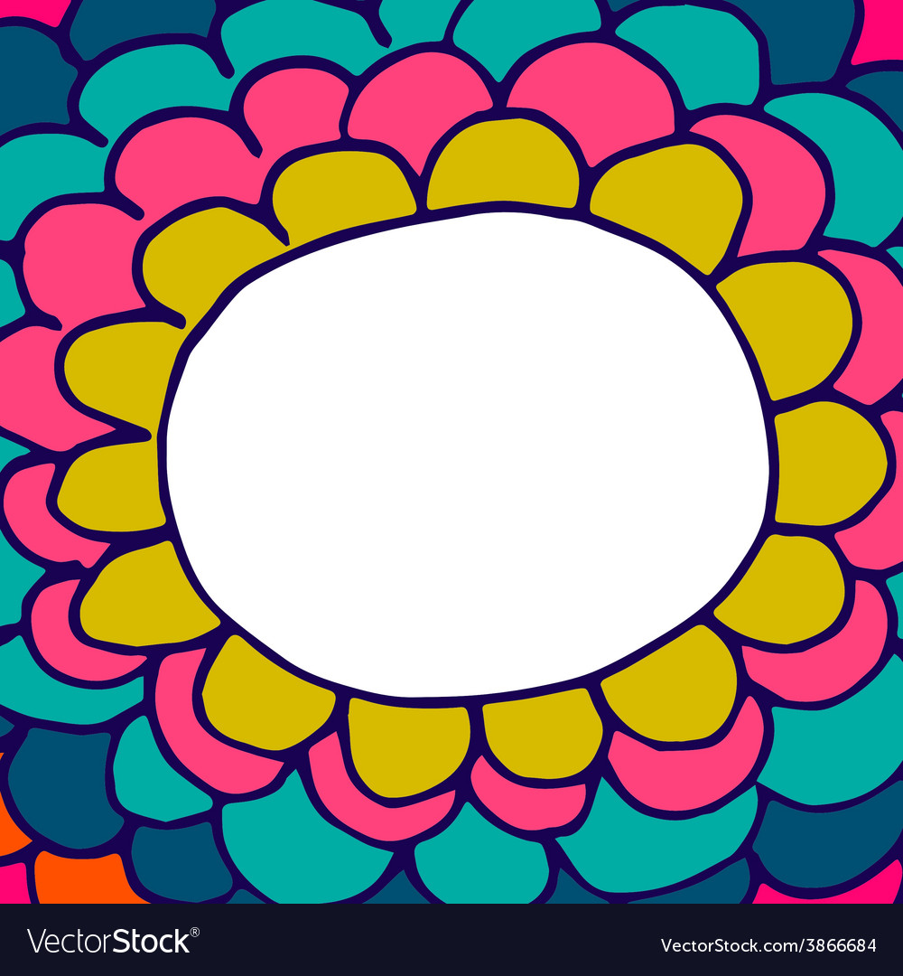Abstract floral hand-drawn doodle background